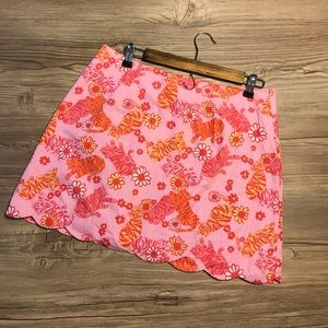 Lilly Pulitzer Scalloped Skirt - size 10